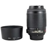 """尼康(Nikon)AF-S DX VR 55-200mmf/4-5.6G IF-ED 远摄变焦镜头(黑色)(""""轻巧远摄变焦头""""、适合拍摄一些远处的景物)"""